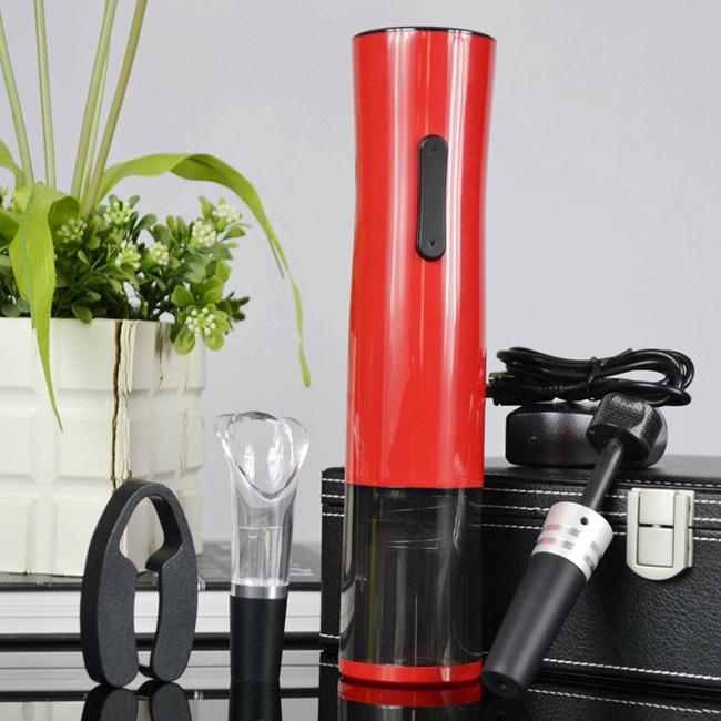 百诣黑红经典时尚充电开瓶器五件套BY232