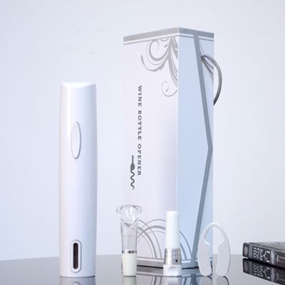 百诣雅致白色干电池电动开瓶器纸盒四件套 BY228