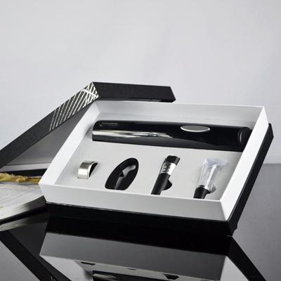 2015新款纸盒装 雅致白色干电池电动开瓶器套装BY244