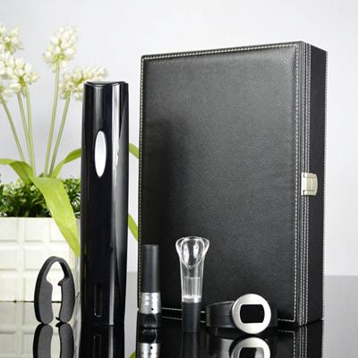 百诣干电池电动开瓶器黑色款5件套BY214