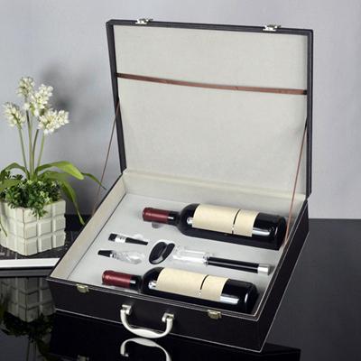 百诣气压红酒酒箱4件套BY707