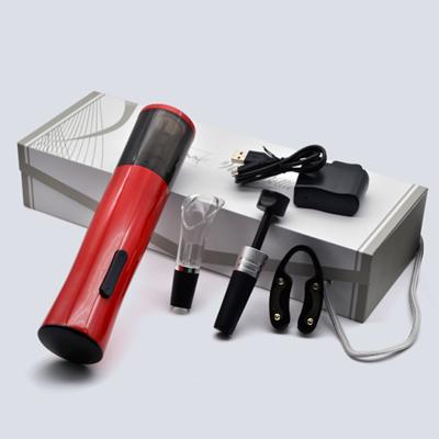 百诣黑红经典时尚充电红酒电动开瓶器套装BY235