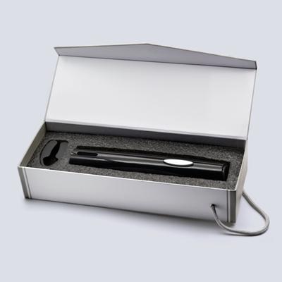 百诣干电池黑色款电动开瓶器二件套BY231