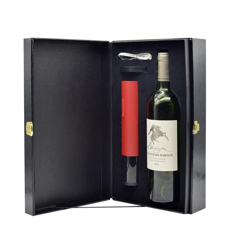 百诣2019新款单支红酒箱含电动开瓶器