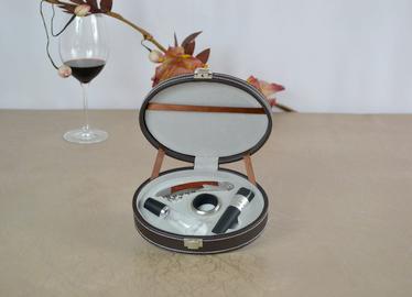 百诣个性礼品花梨木不锈钢酒刀椭圆套装,BY608B