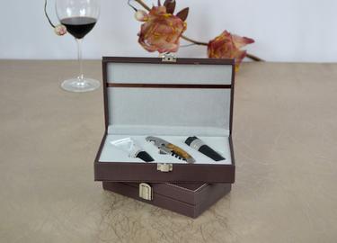百诣影木手工酒刀礼盒三件套BY605,公司礼品定制