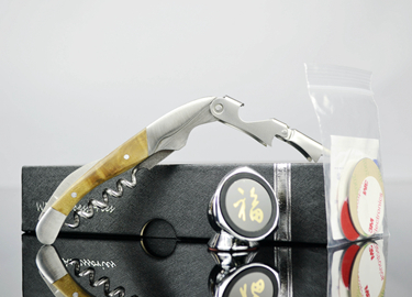迷你车载手机支架导航手机座红酒影木酒刀红酒开瓶器手机配件套装