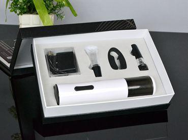 百诣新款纸盒装 黑白时尚充电开瓶器五件套  BY242