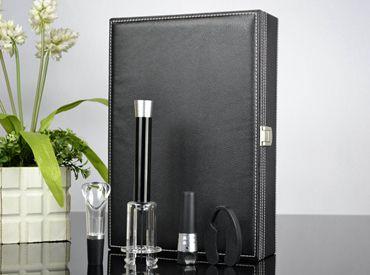 [个性创意礼品套装] 百诣铝合金气压开瓶器升级版4件套BY309
