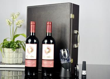 百诣醒酒器双支酒箱四件套 红酒开瓶器BY705