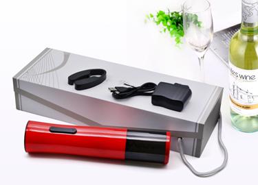 百诣黑红经典时尚充电红酒开瓶器四件套BY236